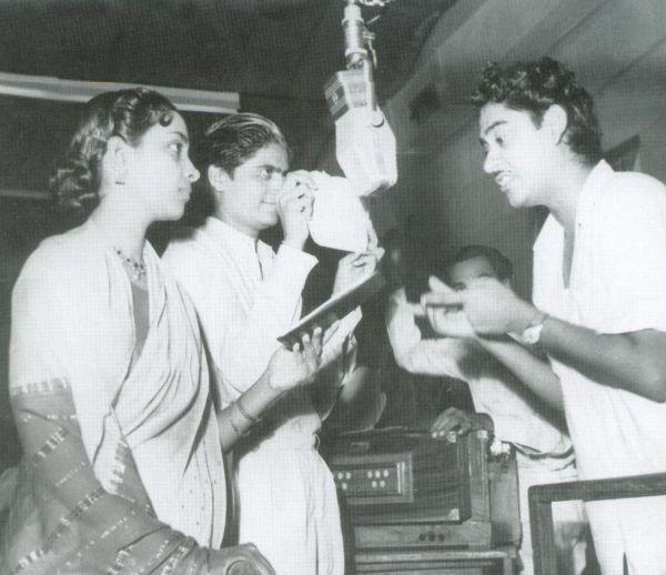 Geeta Dutt Bharat Vyas and Kishore Kumar