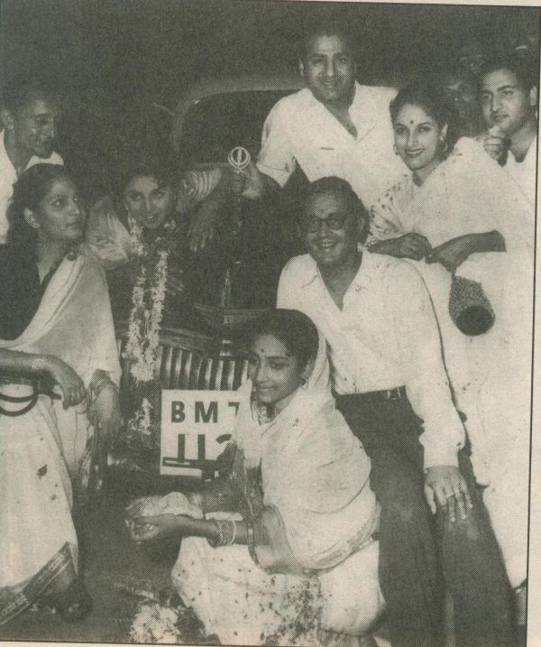 Guru and Geeta Dutt with Geeta Bali and Mohd Rafi and others