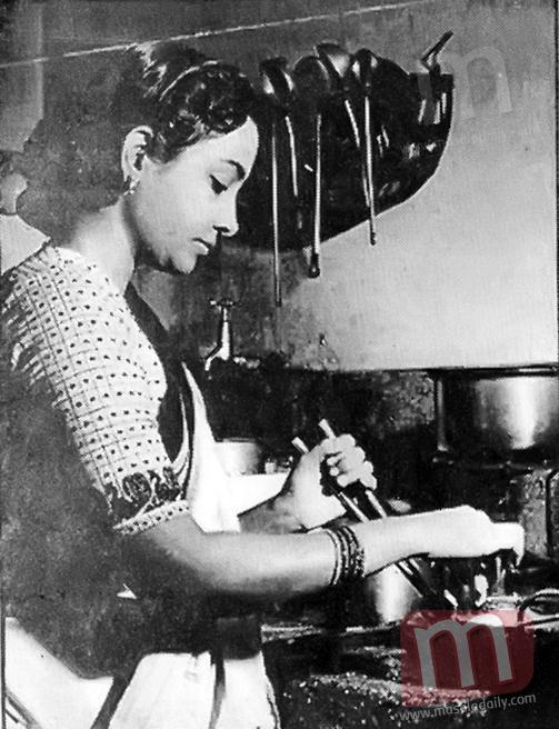 Geeta Dutt in her kitchen