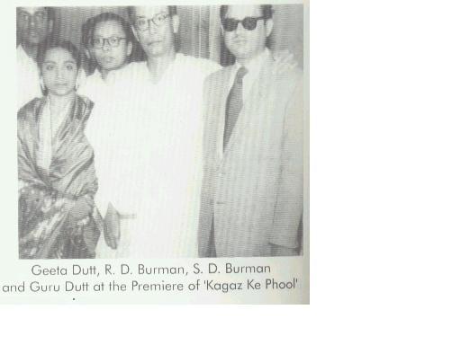 Geeta Dutt S D Burman Guru Dutt