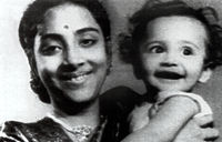 Geeta with her son