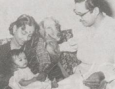 Geeta Dutt Guru Dutt with their pet and Neena