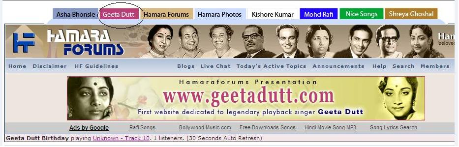 September 2009 Geeta Dutt Fans Blog