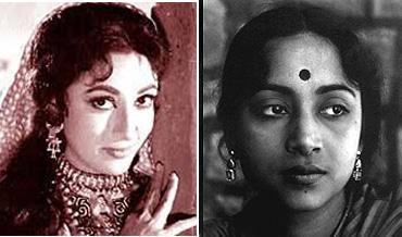 Mala Sinha and Geeta Dutt