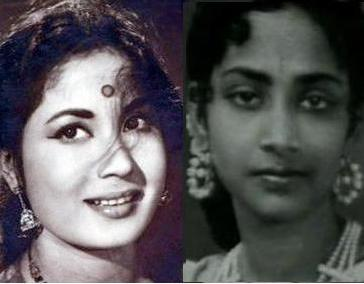 Meena Kumari and Geeta Dutt
