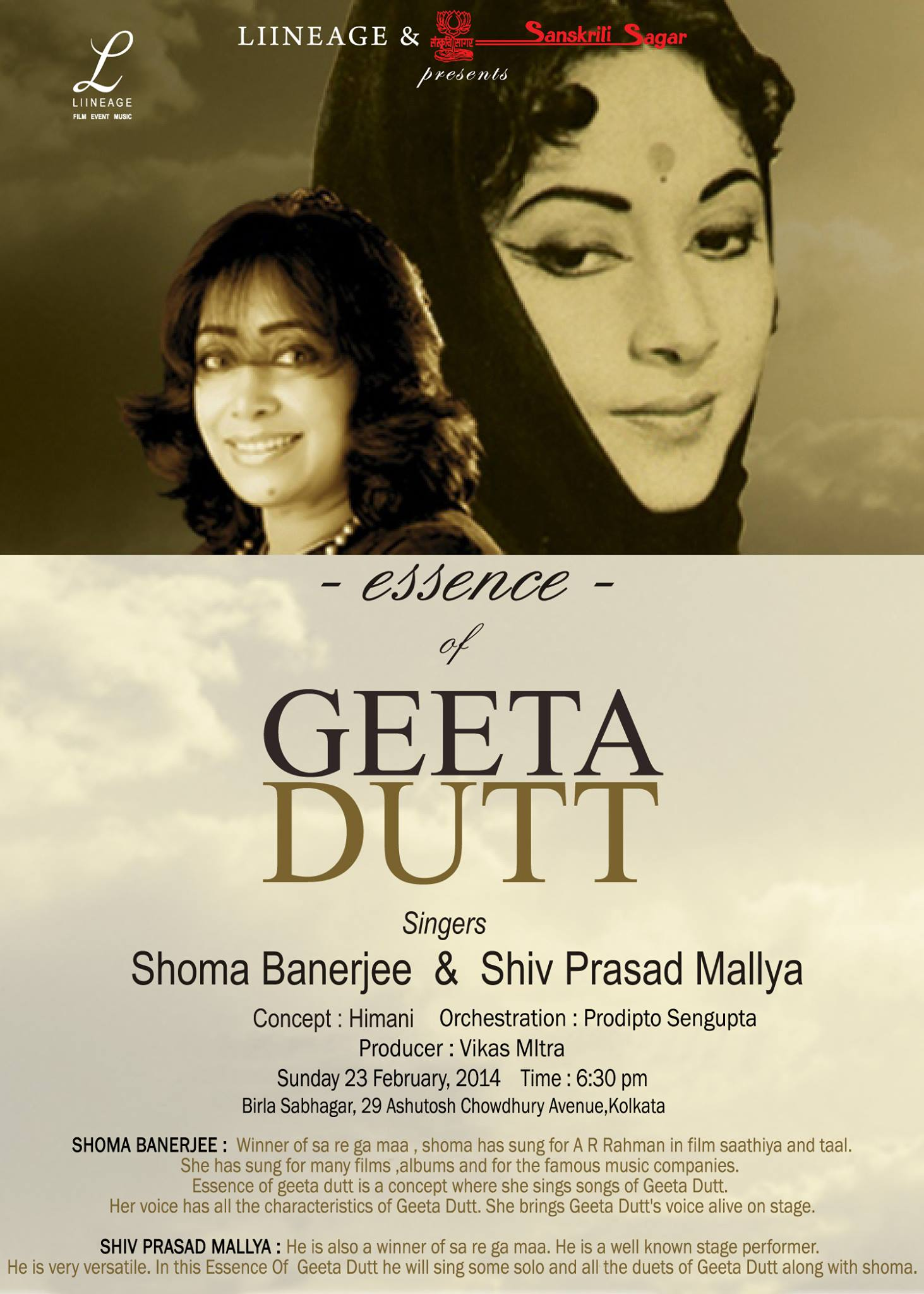 Geeta Dutt program