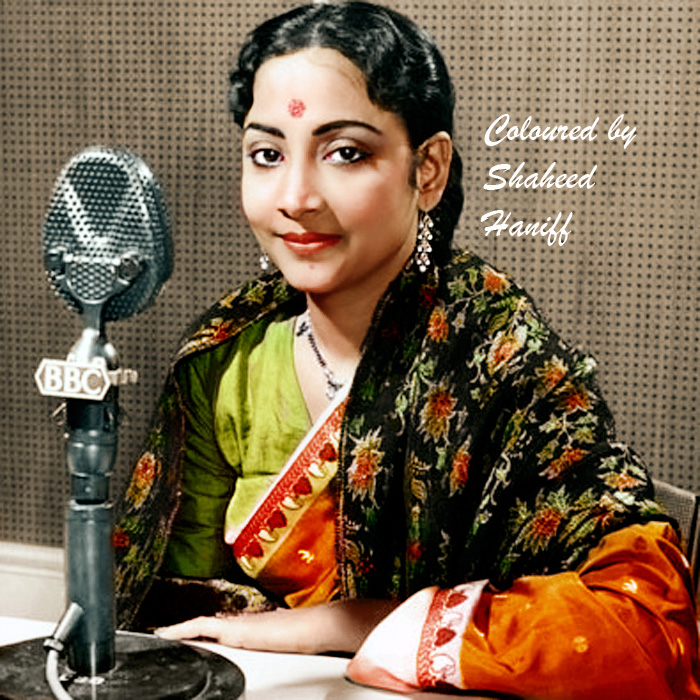 Geeta ji on the microphone