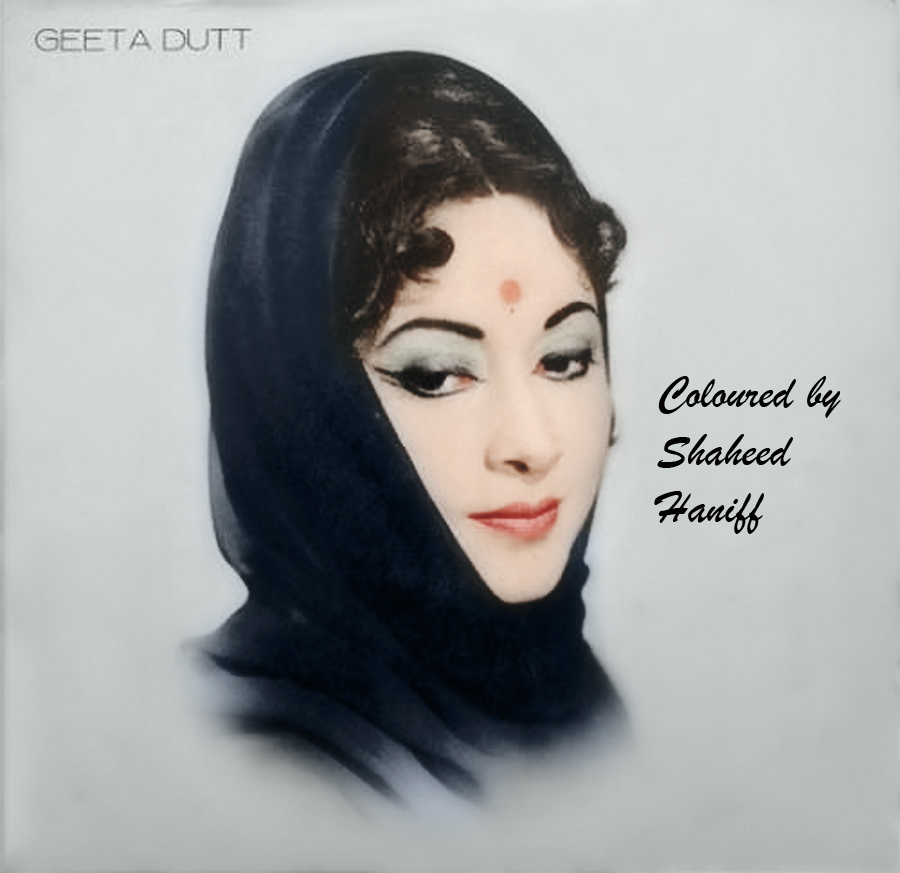 Geeta Dutt (colourised picture)
