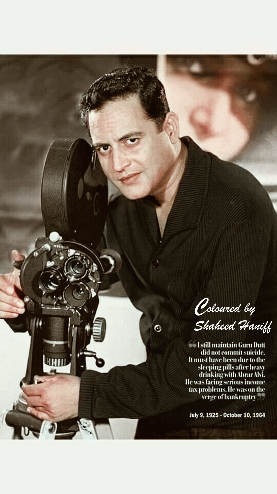 Guru Dutt (colourised Picture)